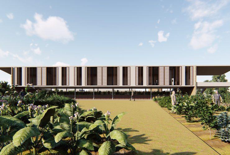 Nuevo Edificio Polivalente del CIC del proyecto de Caballerizas Reales